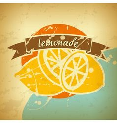 Lemonade retro poster vector
