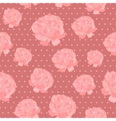 Vintage peonies pattern vector