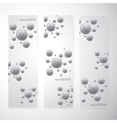 Collection vertical banner design molecule and vector