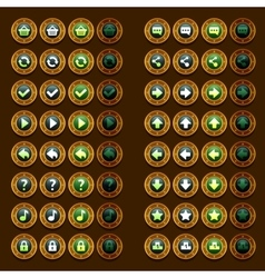 Steam punk game icons buttons icons interface ui vector