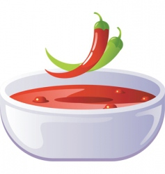 Soup hot vector