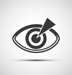 Icons of the human eye vector