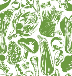 Seamless background with vegetables vector