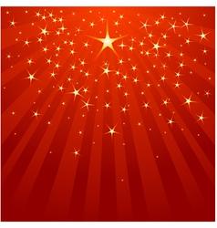 Christmas shooting star vector
