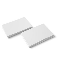 Two stack of blank business card vector
