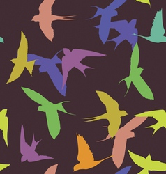 Color swallows seamless pattern vector