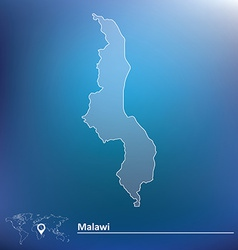 Map of malawi vector