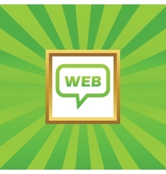 Web message picture icon vector