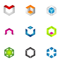 Logo design elements set 71 vector