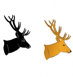 Deer profile vector