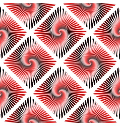 Design seamless colorful whirl rotation pattern vector