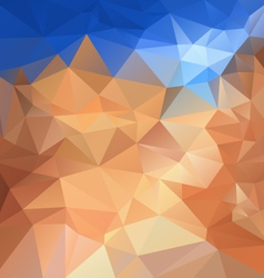 Blue sky beige sand polygonal triangular pattern vector