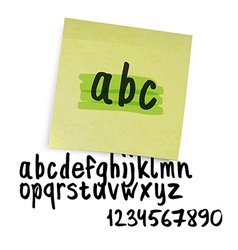 Marker alphabet lowercase vector