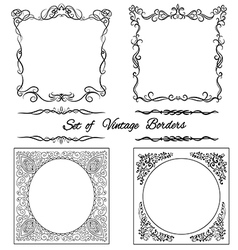 Set of square vintage borders10 vector