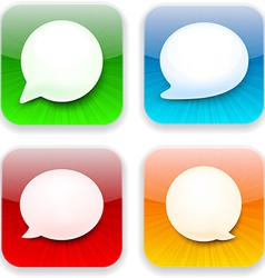 Web speech bubble app icons vector