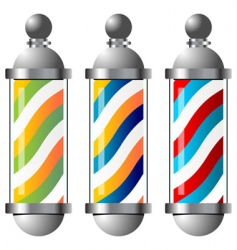 Barbers pole set vector