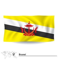 Flag of brunei vector