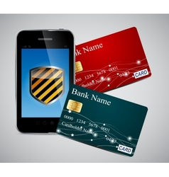 Credit card and phone vector