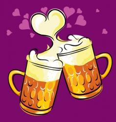 Beer love vector