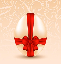 Easter celebration background with traditional egg vector