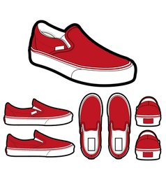 Classic slip on shoes vector