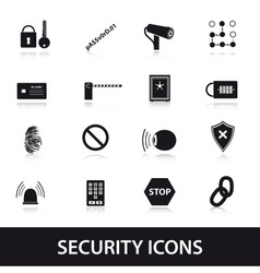 Security icons set eps10 vector