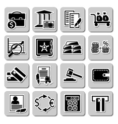 Set of banking icons vector