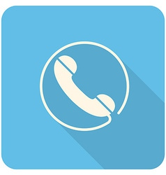 Handset icon vector