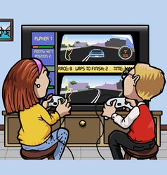 Car racing videogames vector