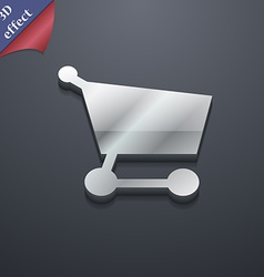 Shopping basket icon symbol 3d style trendy modern vector