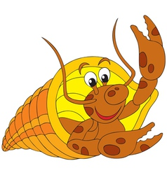 Diogenes-crab vector