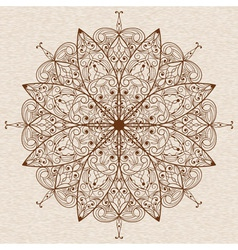Circle abstract ethnic floral design element vector