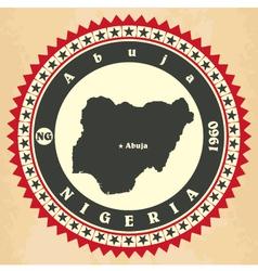 Vintage label-sticker cards of nigeria vector