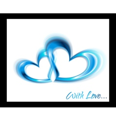 Blue hearts design vector