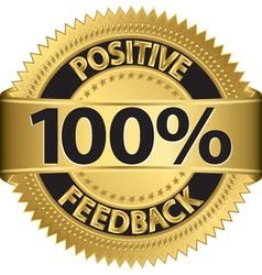 100 percent positive feedback gold label vector
