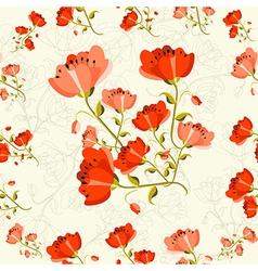 Poppy flower pattern vector
