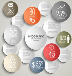 Abstract colored round info graphic business vector