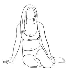 Woman sketch vector