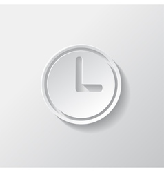 Clock web icon button time symbol vector