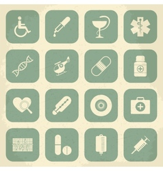 Retro medical icons vector