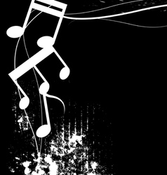 Black and white music grunge background vector