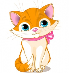 Very cute cat vector