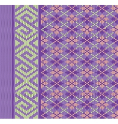 Knit texture for book cover vector