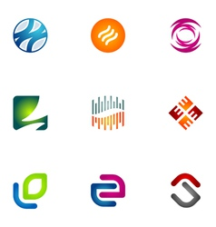 Logo design elements set 76 vector