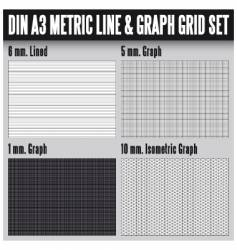 Din a3 metric set vector