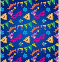 Purim background  jewish holiday vector
