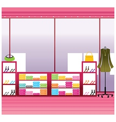 Fashion boutique interior vector