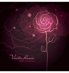 Rose flower design vector