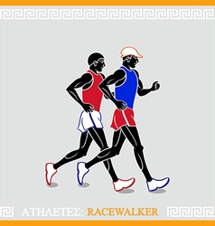 Athlete racewalkers vector
