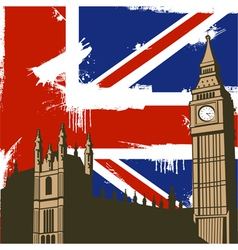 Grunge british background vector